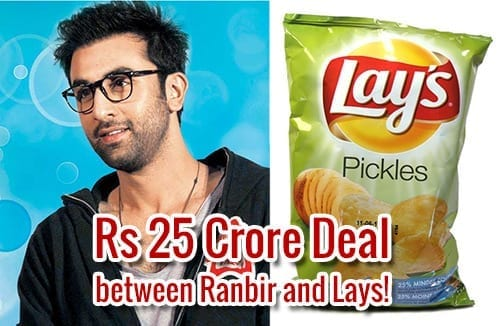Ranbir Kapoor and Lays Rs 25 Corore Deal