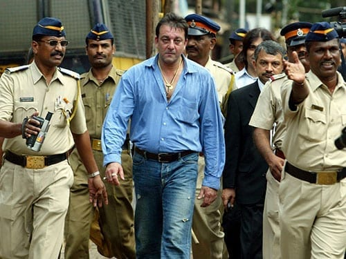Sanjay Dutt out of jail on parole to be with his family and ill wife