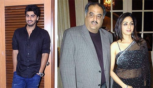 Arjun Kapoor is glad to see Boney Kapoor happy with Sridevi