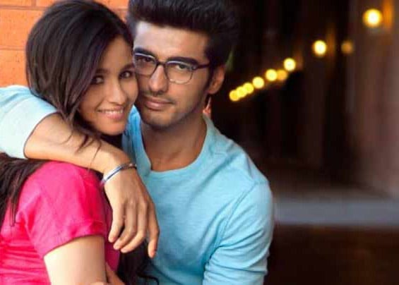 Arjun Kapoor and Alia Bhatt in a Romantic scene from film '2 States'