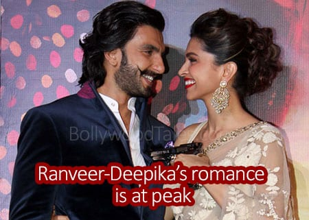 Ranveer Singh and Deepika Padukone romance is at peak.