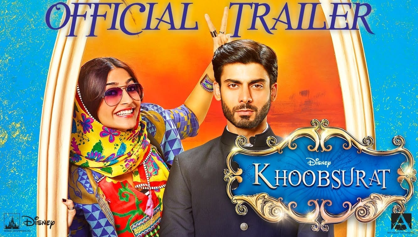 Khoobsurat Movie Official Trailer, Sonam Kapoor, Fawad Khan