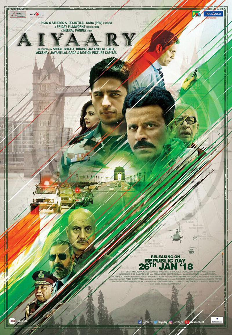 First look poster of Neeraj Pandey's 'Aiyaary' out!