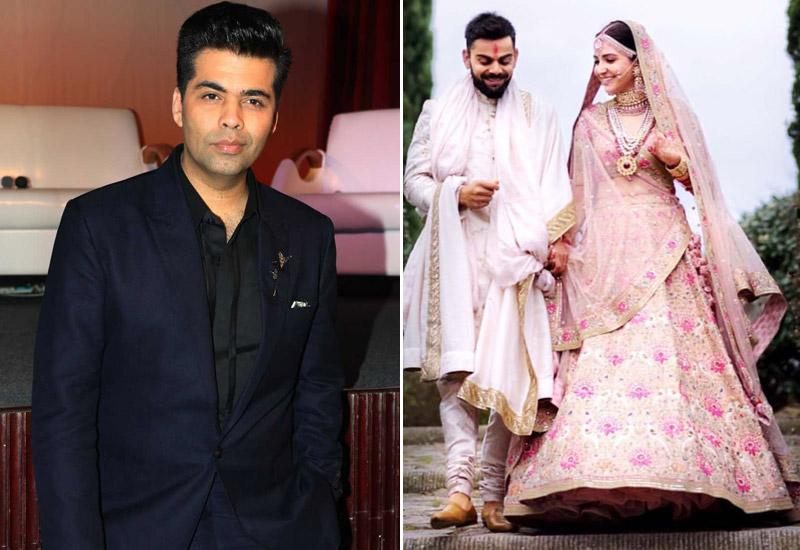 Karan Johar too is obsessing over Virat-Anushka's wedding pictures!